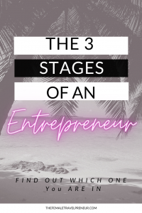 The 3 Stages of Entrepreneurship