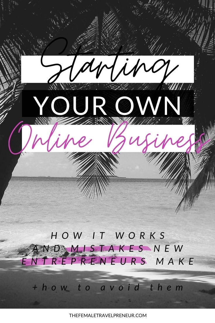 Work from anywhere in the world online by starting a business online