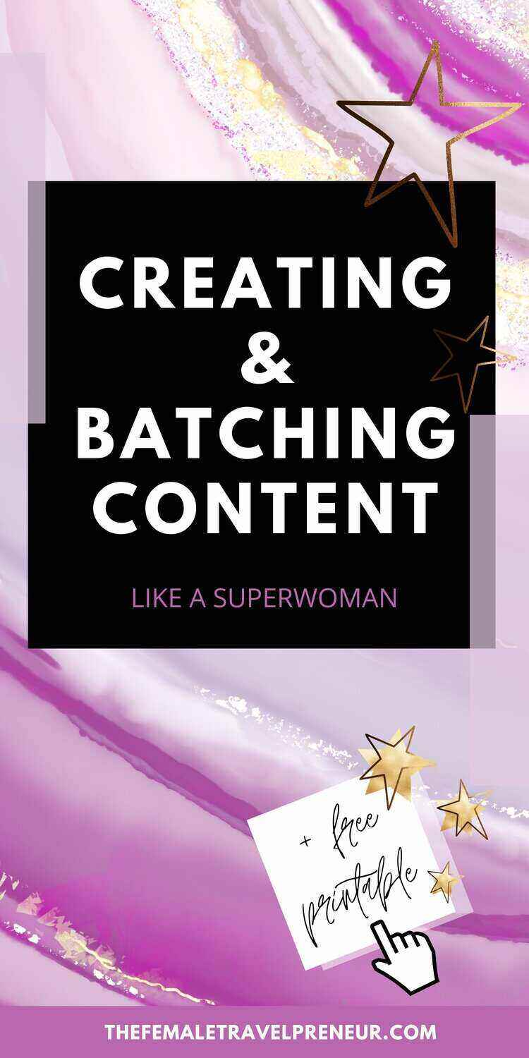 Creating and Batching Content Like a Pro