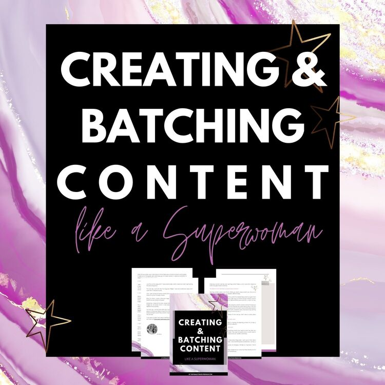 Save time and energy with this content creation and batching method